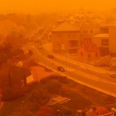 Δεν είναι τοξικό το νέφος με την αφρικανική σκόνη