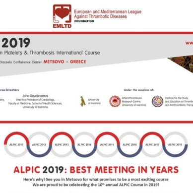 ALPIC 2019: Advanced Learning on Platelets & Thrombosis International Course